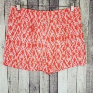 Under Skies geometric abstract printed shorts